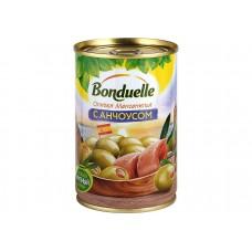 """Оливки фаршированные анчоусом """"Bonduelle"""" ж/б 314мл"""